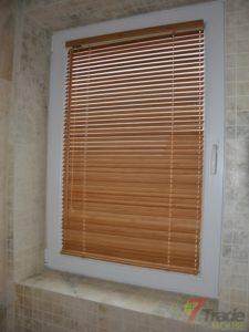 Żaluzje drewniane łazienka