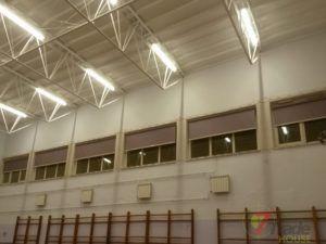 Roletki wielkogabarytowe sala gimnastyczna